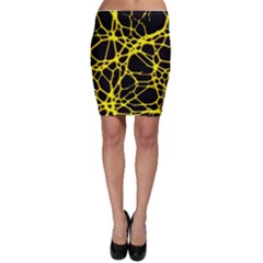 Hot Web Yellow Bodycon Skirts