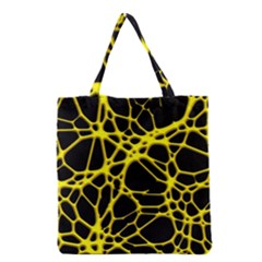 Hot Web Yellow Grocery Tote Bags