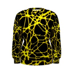 Hot Web Yellow Women s Sweatshirts
