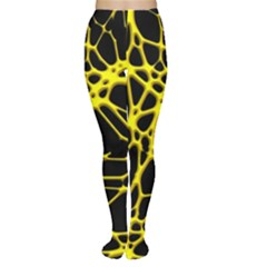 Hot Web Yellow Women s Tights