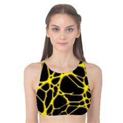 Hot Web Yellow Tank Bikini Top