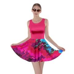 Psychedelic Storm Skater Dresses