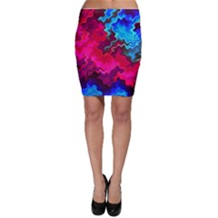 Psychedelic Storm Bodycon Skirts