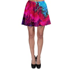 Psychedelic Storm Skater Skirts