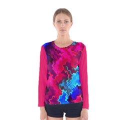Psychedelic Storm Women s Long Sleeve T Shirts