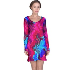 Psychedelic Storm Long Sleeve Nightdresses