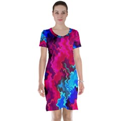 Psychedelic Storm Short Sleeve Nightdresses