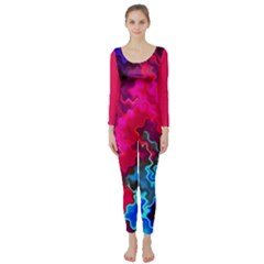 Psychedelic Storm Long Sleeve Catsuit