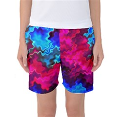 Psychedelic Storm Women s Basketball Shorts
