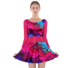 Psychedelic Storm Long Sleeve Skater Dress
