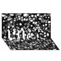 Chaos Decay HUGS 3D Greeting Card (8x4)