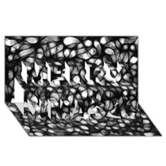 Chaos Decay Merry Xmas 3D Greeting Card (8x4)