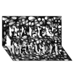 Chaos Decay Happy New Year 3d Greeting Card (8x4)