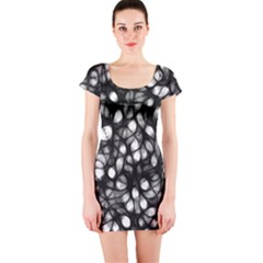 Chaos Decay Short Sleeve Bodycon Dresses