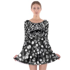 Chaos Decay Long Sleeve Skater Dress