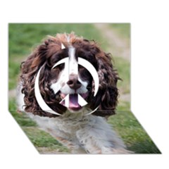 Ess Walking Peace Sign 3D Greeting Card (7x5)