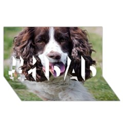 Ess Walking #1 DAD 3D Greeting Card (8x4)