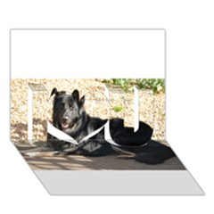 Black German Shepherd Laying I Love You 3d Greeting Card (7x5)
