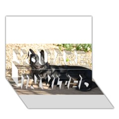 Black German Shepherd Laying You Are Invited 3d Greeting Card (7x5)