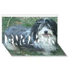 Havanese Full ENGAGED 3D Greeting Card (8x4)
