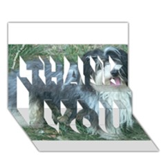 Havanese Full Thank You 3d Greeting Card (7x5)
