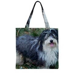 Havanese Full Zipper Grocery Tote Bags
