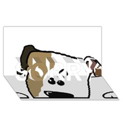 Peeping Bulldog SORRY 3D Greeting Card (8x4)