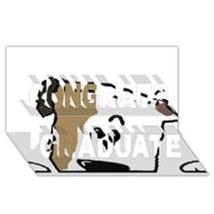 Peeping Bulldog Congrats Graduate 3D Greeting Card (8x4)
