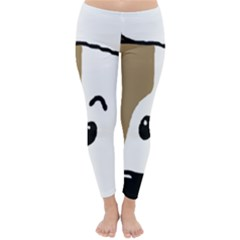 Peeping Bulldog Winter Leggings