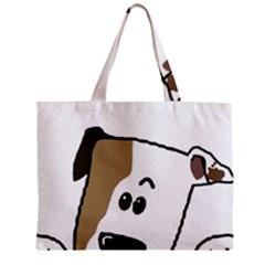 Peeping Bulldog Zipper Tiny Tote Bags