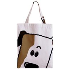 Peeping Bulldog Zipper Classic Tote Bags