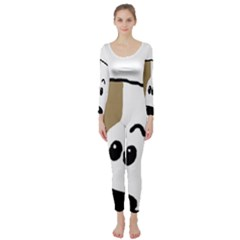 Peeping Bulldog Long Sleeve Catsuit