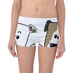 Peeping Bulldog Boyleg Bikini Bottoms