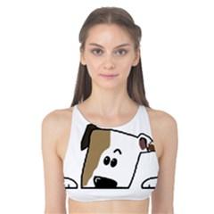 Peeping Bulldog Tank Bikini Top