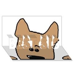Peeping Yorkshire Terrier Best Sis 3d Greeting Card (8x4)