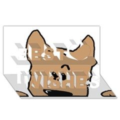 Peeping Yorkshire terrier Best Wish 3D Greeting Card (8x4)
