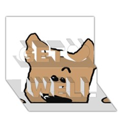 Peeping Yorkshire Terrier Get Well 3d Greeting Card (7x5)
