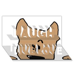 Peeping Yorkshire terrier Laugh Live Love 3D Greeting Card (8x4)