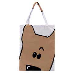Peeping Yorkshire terrier Classic Tote Bags