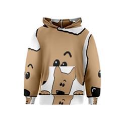 Peeping Yorkshire terrier Kid s Pullover Hoodies