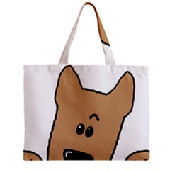 Peeping Yorkshire terrier Zipper Tiny Tote Bags