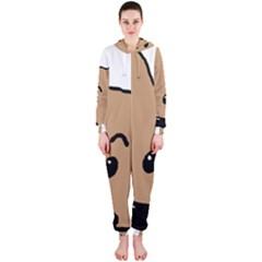 Peeping Yorkshire terrier Hooded Jumpsuit (Ladies)