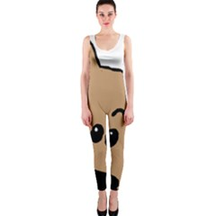 Peeping Yorkshire terrier OnePiece Catsuits