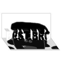 Peeping Black  Poodle Best Bro 3d Greeting Card (8x4)