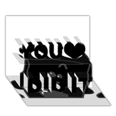 Peeping Black  Poodle You Did It 3D Greeting Card (7x5)