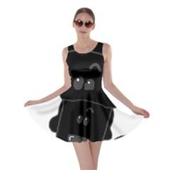 Peeping Black  Poodle Skater Dresses