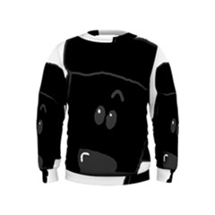 Peeping Black  Poodle Boys  Sweatshirts