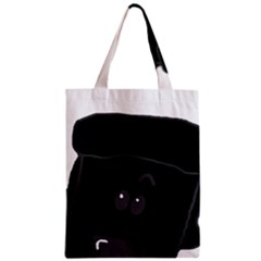 Peeping Black  Poodle Zipper Classic Tote Bags