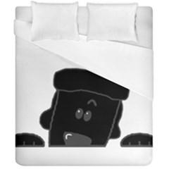 Peeping Black  Poodle Duvet Cover (Double Size)
