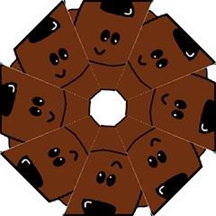 Peeping Chocolate Poodle Straight Umbrellas